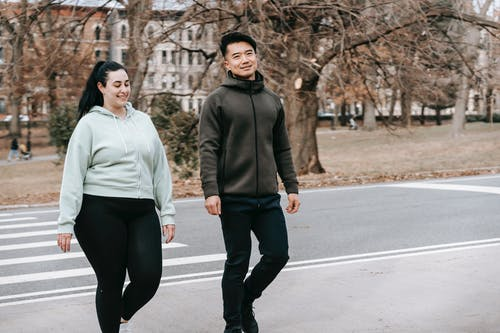 foreigners walking